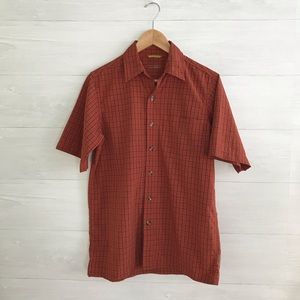 {Royal Robbins} Plaid button down shirt, S